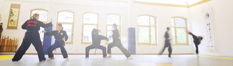 Training im großen Dojang